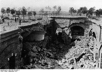 Siege of Maubeuge - Destroyed casemate at Maubeuge