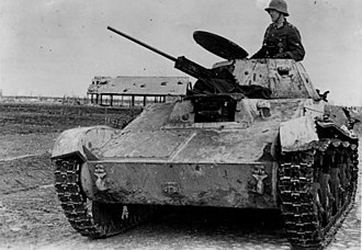 T-60 tank - A captured T-60 pressed into German use in the Kholm Pocket.