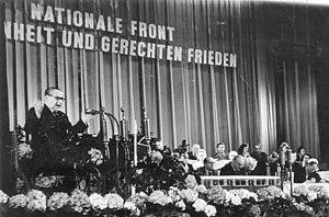 German People's Congress - Hermann Kastner address the third People's Congress in Admiralspalast, Berlin, 1949