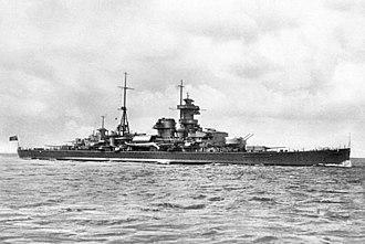 """German cruiser Admiral Hipper - Image: Bundesarchiv DVM 10 Bild 23 63 24, Schwerer Kreuzer """"Admiral Hipper"""""""