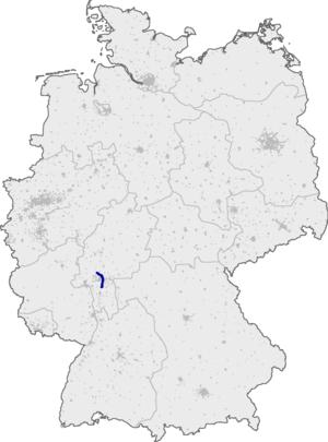 Bundesautobahn 661 - Image: Bundesautobahn 661 map