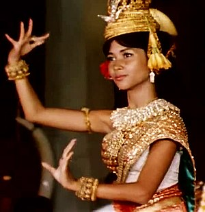 Norodom Buppha Devi - Princess Buppha Devi performing a Khmer classical dance circa 1965.