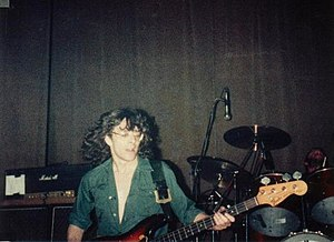 Budgie (band) - Burke Shelley and Steve Williams performing in 1981