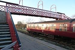 Butterley railway station, Derbyshire, England -bridge-19Jan2014.jpg