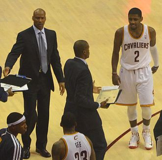 Byron Scott - Byron Scott (Left) coaching the Cavaliers in 2013