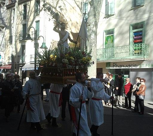 Céret - Pâques procession 2015