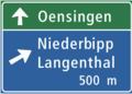 CH-Hinweissignal-Vorwegweiser bei Anschlüssen.png