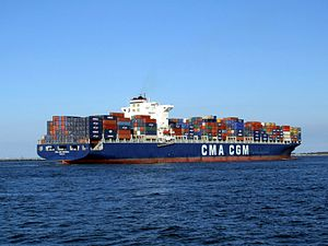 CMA CGM Parsifal p10 approaching Port of Rotterdam, Holland 01-Jan-2005.jpg