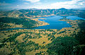 CSIRO ScienceImage 4564 Aerial view of the Peel River running into the Chaffey Dam NSW 1996.jpg