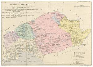 Konya Vilayet - Image: CUINET(1890) 1.846 Vilayet of Konya