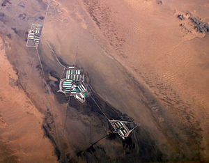 Cadiz, California - Salt evaporation ponds near Cadiz