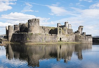 Caerphilly Castle - Caerphilly Castle from the south-west