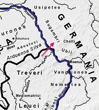 Caesar's Rhine bridges - Likely site of Rhine crossings