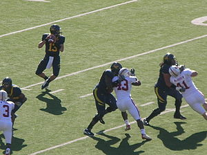 Kevin Riley - Riley looks to pass during the 2008 Big Game