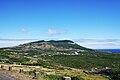 Caldeira da Graciosa, vulcão visto da localidade da Fajã (Santa Cruz da Graciosa), ilha Graciosa, Açores, Portugal.JPG