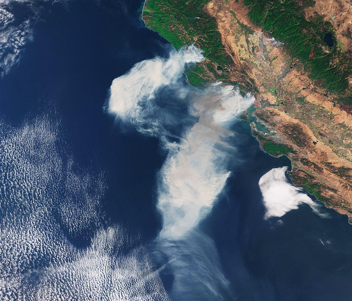 California Fires Satellite >> October 2017 Northern California wildfires - Wikipedia