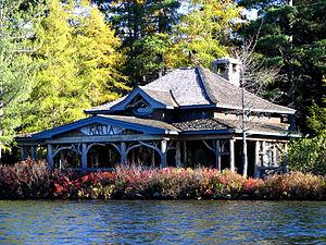 Great Camps - Camp Katia on Upper St. Regis Lake.