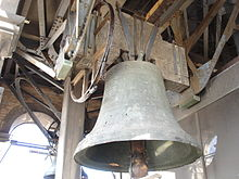 photograph of a bell in the belfry