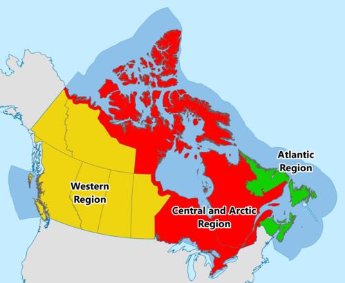 Canadian Coast Guard Wikipedia - Us coast guard bases map