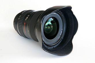 Wide-angle lens - One of Canon's most-popular wide-angle lenses – 17-40 mm f/4 L retrofocus zoom lens.