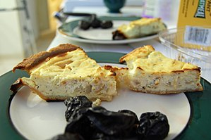 Cheese and onion pie - Image: Caramelized onion pie
