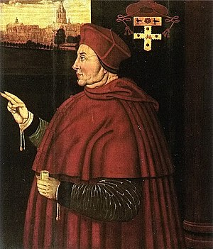 Cardinal Wolsey, the principal designer of the...
