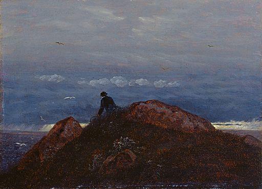 Carl Gustav Carus - Hünengrab mit ruhendem Wanderer