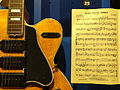 Carl Perkins 1956 Gibson ES-5 Switchmaster with Blue Suede Shoes Sheet Music - Rock & Roll Hall of Fame and Museum, Cleveland (by Adam Jones).jpg
