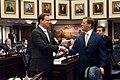 Carlos Lopez-Cantera congratulates Will Weatherford.jpg