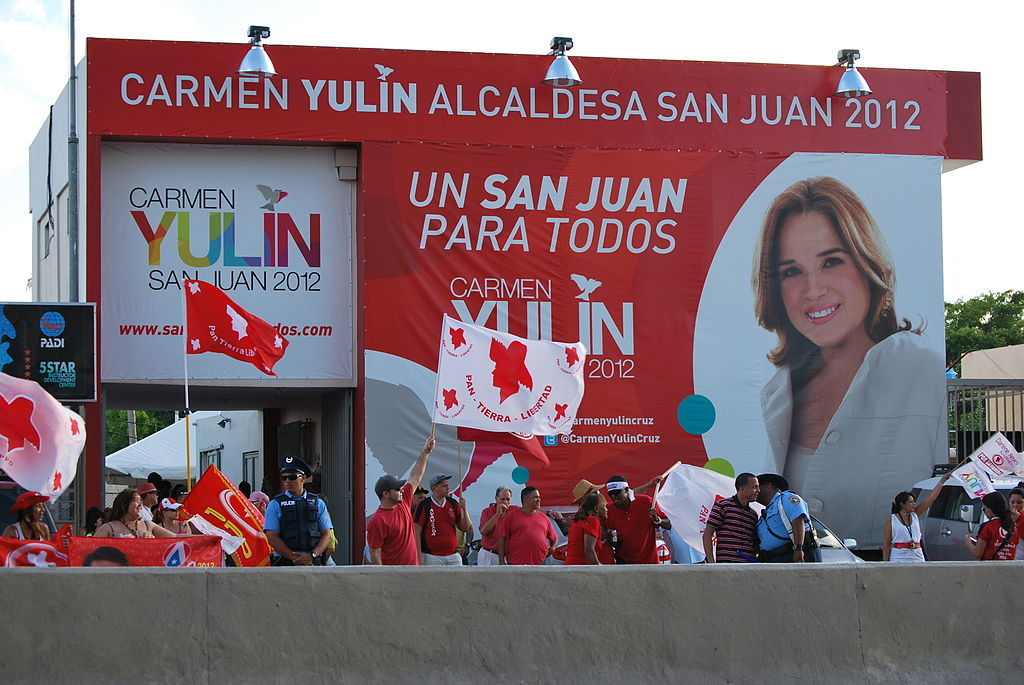 Carmen Yulin Cruz campaign headquarters in San Juan, Puerto Rico
