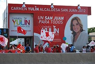 Carmen Yulín Cruz - Cruz' campaign headquarters two days before the 2012 elections