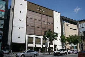 Cheongdam-dong - Cartier Maison and Salvatore Ferragamo stores in 2012