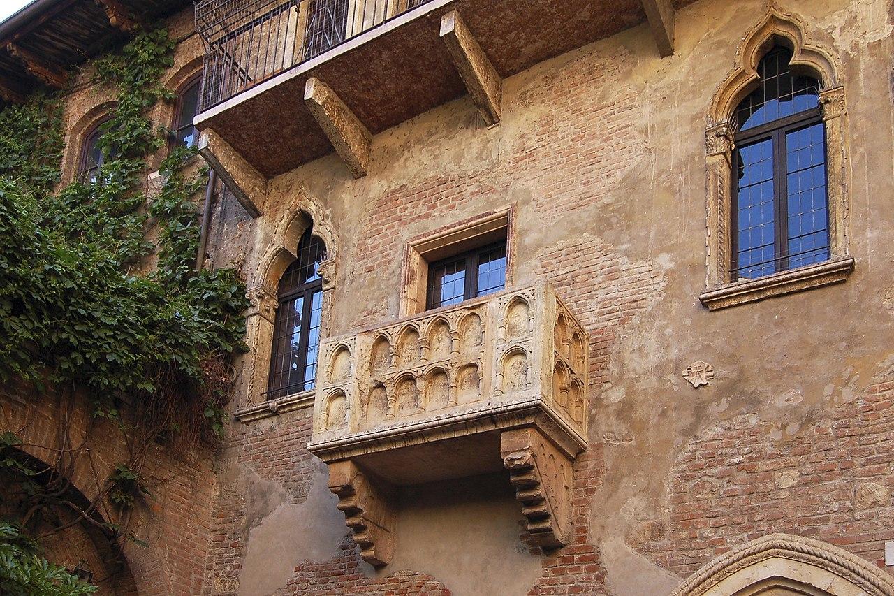 балкон джульетты, дом джульетты, дворик джульетты