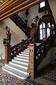 Castello di miramare, scalone in stile rinascimento tedesco, con sei paggi imperiali reggilampade, 01.jpg
