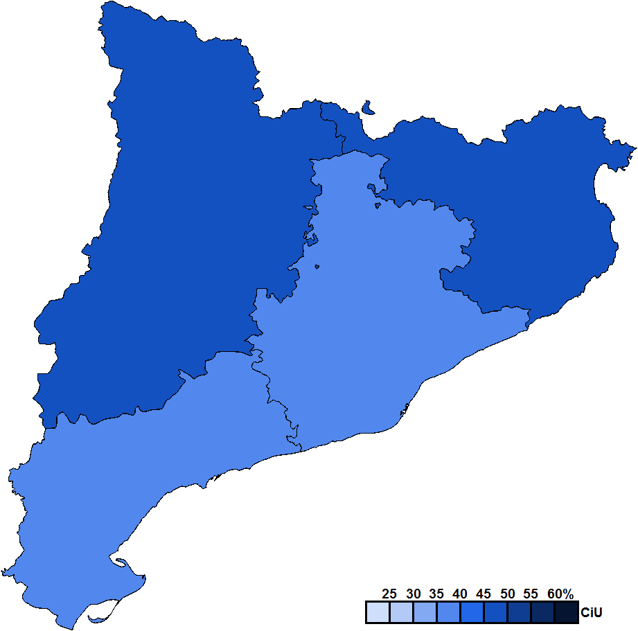 CataloniaProvinceMapParliament2010