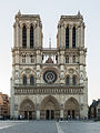Cathédrale Notre-Dame de Paris, Northwest view at sunrise 20140320.jpg