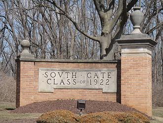 Cedar Crest College - Cedar Crest College South Gate, Class of 1922 senior gift