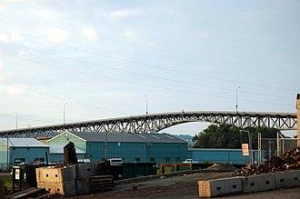 Illinois Route 8 - Cedar Street Bridge over the Illinois River in Peoria, Illinois