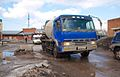 Cement mixer truck in Russia.jpg