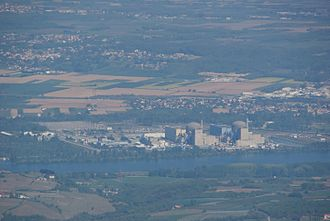 Saint-Alban Nuclear Power Plant - Overview over the power plant site
