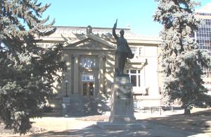 Central Memorial Park - Image: Centralmemorialparkl ibrary calgary