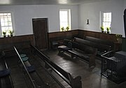The interior of an old meeting house in the United States
