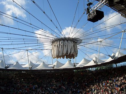Am Rothenbaum is the main tennis stadium of the International German Open Centre Court Am Rothenbaum Sliding Roof.jpg