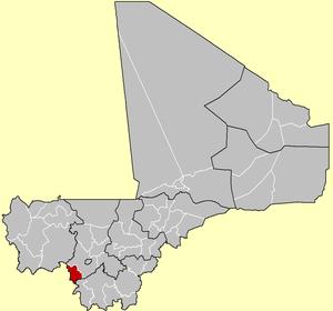 Location of Kangaba Cercle in Mali