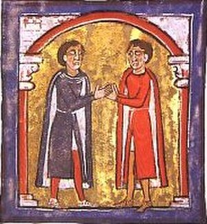 Ermengol III, Count of Urgell - Ermengol with his cousin, Ramon Berenguer I, Count of Barcelona