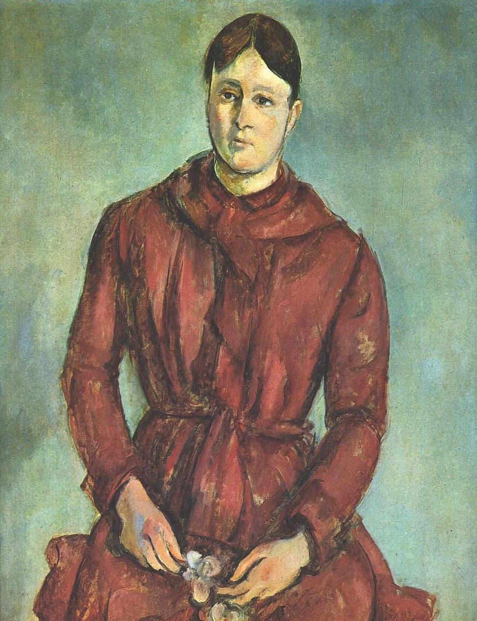 Cezanne - Madame Cezanne in Rot