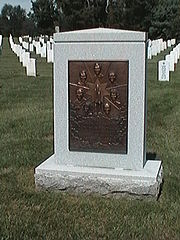 Cenotaph memorial honoring the crew of the Space Shuttle Challenger.