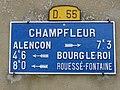 Champfleur (Sarthe) plaque de cocher.jpg