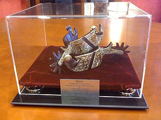 Texas Longhorns football - The Chancellor's Spurs is the traveling trophy between the Longhorns and Texas Tech Red Raiders