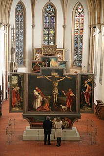 <i>Isenheim Altarpiece</i> painting by Mathias Grünewald